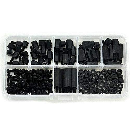 Electronics-Salon M3 Nylon Black Hex Nuts M-F List price Screws Ass Spacers Be super welcome