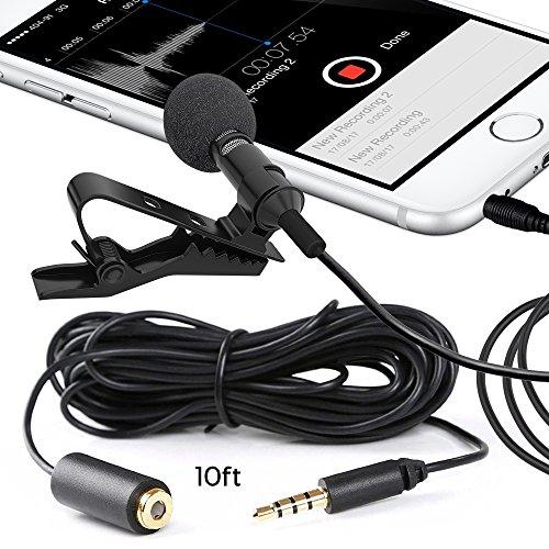 Milagro sonido Deluxe–para Samsung Galaxy S3MINI i8190de solapa Lavalier micrófono de condensador omnidireccional para iPhone, iPad, iPod Touch, Samsung Android y Windows Smartphones