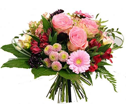 Flora Trans -frischer Blumenstrauß mit rosa Rosen -Süße Verführung- Blumenstrauß versand