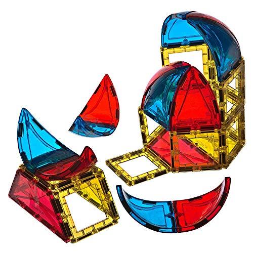 Playmags 28pcs 3D Bloques magnéticos para Niños - Aprender Formas, Colores, y del Alfabeto Stem Juguetes magnéticos desarrollar Habilidades y Creatividad motriz