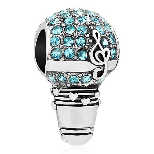 Sug Jasmin Love Music Microphone Charm for Bracelets