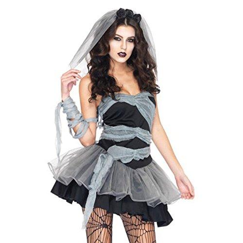 『ハロウィン仮装 花嫁 ゾンビ ホラー 魔女 コスプレ衣装 コスチューム パーティー グッズ (花嫁 ゾンビ)』のトップ画像