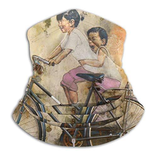 senob Kinderfahrrad A Riding Gra-ffity Art Wallpaper Kopfbedeckung Halsmanschette Wärmer Winter Skiröhrchen Schal Maske Fleece Face Cover Customized