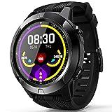 WQYRLJ Modo Sport Bluetooth Smartwatch Soporte De Tarjeta SIM del Corazón Llamada Tasa Podómetro GPS Inteligente Los Hombres del Reloj para Android Y El iOS