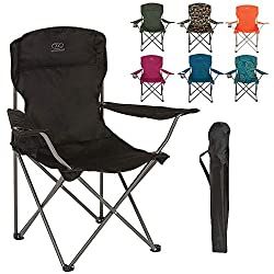 COMFORT WHEREVER YOU GO - The Camp Chair is lightweight, comfortable and can accompany you with ease on any travels. Made using a Polyester PVC coated material makes it easy to wipe down and clean with a damp cloth. Sit back, relax and soak up the gl...