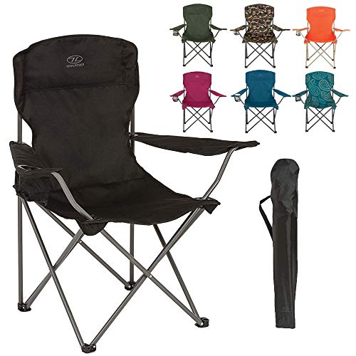 Highlander Folding Camp Chair ― Lightweight & Durable Outdoor Seat ―...