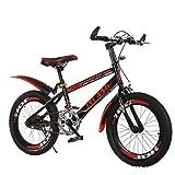 Overmal Bike 18 Zoll Mountainbike Fully, Mountainbike Fahrrad, Scheibenbremse vorne und hinten, 21 Gang-Schaltung, Vollfederung, Jungen-Herren Fahrrad, mit Hinterschutzblech