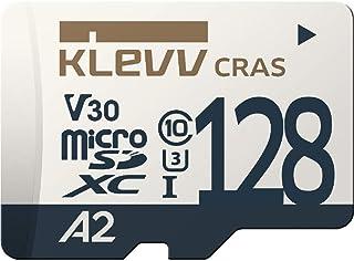 KLEVV microSDXC 128GB UHS-I U3 V30 A2 最大読込:100MB/s 4K対応 Nintendo Switch 動作確認済 永久保証 K128GUSD6U3-CA