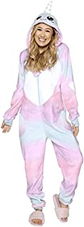 BESTICKON Ultra Plush Narwhal Onesie Riot Unisex Adult Animal Cosplay Costume Pajamas