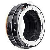 K&F Concept - Adaptador de Lentes, NIK(G)-M4/3 Compatibles con Objetivos Lentes Nikon G AF-S F AIS AI y Cuerpos de Cámara M4/3,Cámara Olympus Panasonic Leica