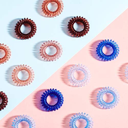 Onlyoily 8 Stück Telefonkabel haargummi elastisch Haarband, Spirale Telefonkabel Anti Spliss Zopfgummi Fitness Haarband Spiral Haargummi für Damen und Mädchen (03)