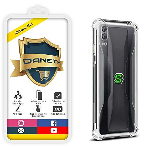 Kit Capa E Película Para Xiaomi Black Shark 2 Pro com Tela de 6.39polegadas Capinha Case Transparente Air Anti Impacto E Película De Gel Silicone Flexível - Danet