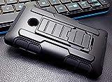 Bagxnet Handy Schutz Hülle Outdoor TPU Silikon Bumper Hülle Panzer Cover Tasche Armor für Microsoft Lumia 435