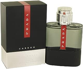 Ṗradä Luna Rossa Carbon Cologne EDT Spray For Men 3.4 OZ. / 100 ML.