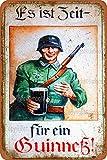 Guinness Vintage-Blechschild Kunst Eisen Gemälde Rost