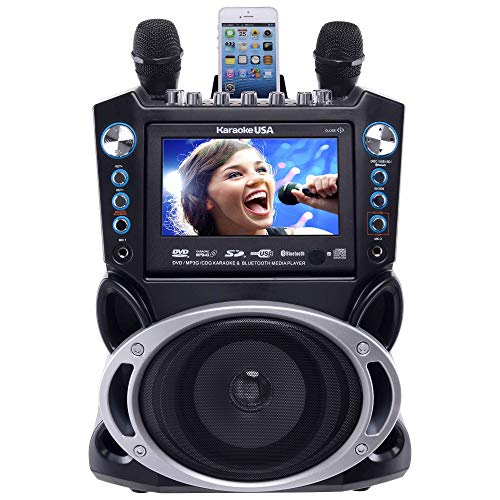 Karaoke USA GF840 DVD/CDG/MP3G Karaoke Machine with 7' TFT Color Screen with Record and Bluetooth