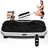 Hurtle Fitness Vibration Platform Machine - Home Gym Whole Body Shaker Exercise Machine Workout Trainer Fast Weight Loss w/ Resistance Bands, Easy Carry Wheel Remote, Adjustable Speed - HURVBTR36 from Hurtle