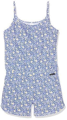 Skiny Mädchen Cosy Night Sleep Girls Overall kurz Einteiliger Schlafanzug, Mehrfarbig (sodaliteblue Tiger 1638), (Herstellergröße:164)