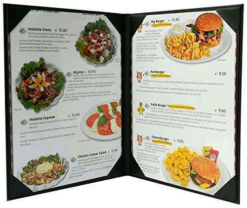 5 Pcs of Restaurant Menu Covers Holders 8.5