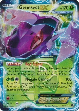 Pokemon - Genesect-EX (11) - Plasma Blast - Holo