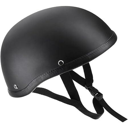 Kkmoon Motorrad Halb Offener Helm Matt Black Schutz Shell Helm Für Scooter Bike Auto