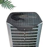 Lrxinki Funda protectora para exterior de aire acondicionado central, cubierta universal para exterior, cubierta de malla universal para aire acondicionado.