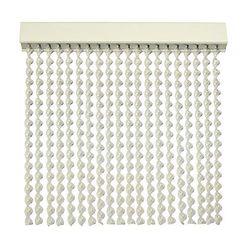 Cortinas Exterior Puerta de Cordon | 72 Tiras Plastico PVC y Barra Aluminio | Ideal para Terraza y Porche | Antimoscas | Transparente | 210 * 90