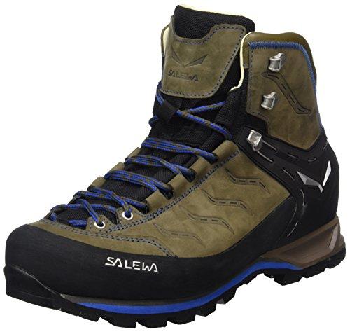 Salewa Herren MS Mountain Trainer Mid Leder Trekking-& Wanderstiefel, Walnut/Royal Blue, 40.5 EU