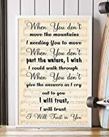 "Trust In You Song Lyrics 装飾ポートレートポスタープリント 16"" x 24"""