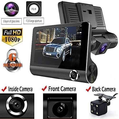 ZXZXZX GPS-Autokamera 1080P Front- und 720P-Heckkamera mit Einparküberwachung, Infrarot-Nachtsicht, Bewegungserkennung und großer Dynamik