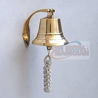The Metal Magician Solid Brass BellWall Mount, Brass Maritime Duty Watch Ship?s Bell 4