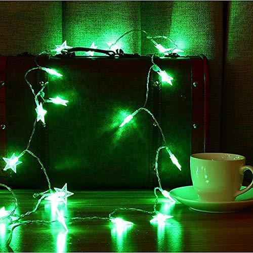 GFSDDS Weihnachtsbeleuchtung Starlight Led Lichterketten 1M 2M 3M 4M 5M 10M 20M Blinkende Beleuchtung Weihnachtshochzeits-Batterielichter, Grün, 1M 10Leds