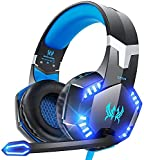 VersionTECH. G2000 Gaming Headset, Surround Stereo Gaming Headphones with Noise Cancelling Mic, LED Lights & Soft Memory Earmuffs for PS5/ PS4/ Xbox One/Nintendo Switch/PC Mac Computer Games- Blue