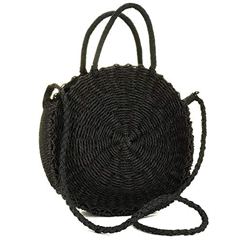 """MATERIAL: Made of durable Straw. Inner Material: Polyester, Cotton Lining. Closure LARGE CAPACITY: This summer bag's size: 15.7""""(L) * 3.1""""(W) * 11.4""""(H). Safe zippered closure,and one small pocket; This shoulder bag is a hand-woven straw bag,it has e..."""