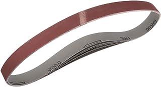 2,5 cm x 76 cm 600 slipbälte 600 aluminiumoxid sandpappersbälten för bärbar remslipare träfinish metall gipsskiva slipmask...