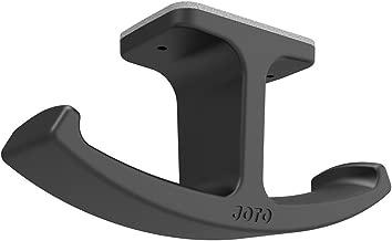 Headphone Stand Hanger, JOTO Silicone Under Desk Dual Headset Holder Mount Hook Hanger for Gaming Headphone Earphone -Black