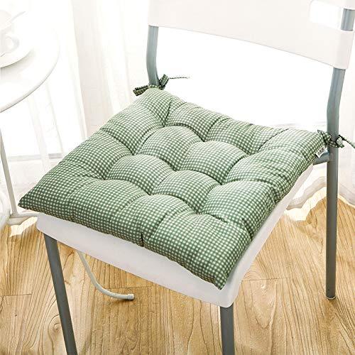 LOVE-CUSHION Coussin Vert à Carreaux Rembourrage Tridimensionnel en Coton Perlé Coussin De Chaise De Jardin D'Intérieur Coussin D'assise,Dentelle Green-45 * 45cm
