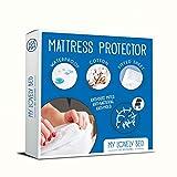 My Lovely Bed - Protège Matelas 90x190/200 cm   Alèse Imperméable et Anti Acarien   Souple et Silencieux - Molleton 100% Coton