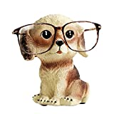 FLYING BALLOON Cute Dog Animals Shaped Resin Spectacles Holder Shelf Coin Bank Home Decoration Best Gift for Kids Friends