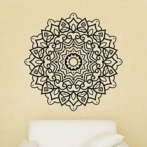 NSRJDSYT Mandala Pared calcomanía Mandala Pared Pegatina Adorno Redondo calcomanía árabe decoración Boho meditación Yoga Pared Arte meditación Mural 84x84cm