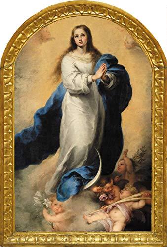 LIPPI DECOR, icono Virgen Maria Inmaculada de Murillo 26x40x1 Decora en todos los espacios, elegante, y distinto, para comedores, salones, dormitorios. Con colgador.