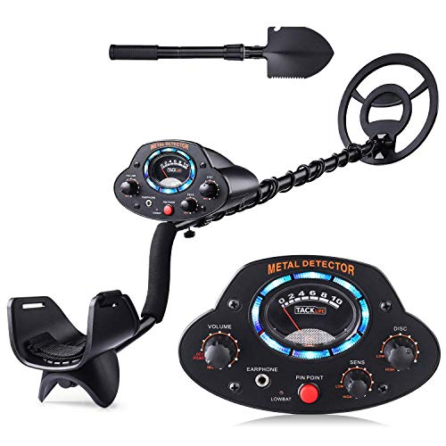 """TACKLIFE Metal Detector, Upgraded Adjustable Detectors (41""""-53"""") with DISC Mode, Pinpoint Function, LED Light, Sensitivity and Volume Controller for Adults and Kids - The Newest Version MMD04 Detectors Metal"""