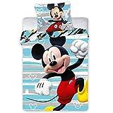 Mickey Mouse - Biancheria da letto per bambini 124 100 x 135 cm + 40 x 60 cm
