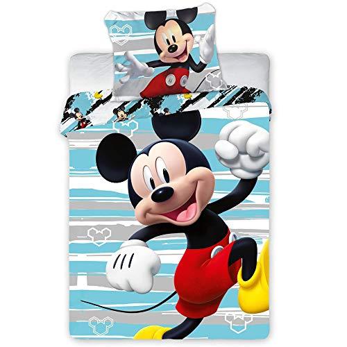 Mickey Mouse Kinderbettwäsche Babybettwäsche 124 100x135 cm + 40x60 cm