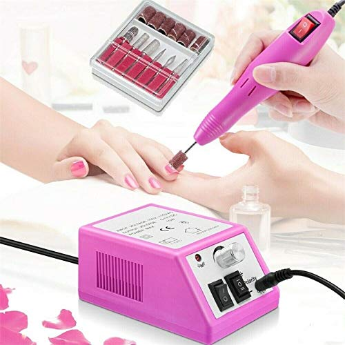 LONGYING Manicure Instrument, Electric Nail File Drill Nail Machine Art Acrylic Pedicure Knife Set, Nail polishing and polishing Electric Nail Remover Suitable for Home Hair Salons