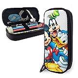 Estuche grande para lápices, Mickey Mouse Minnie Mouse Goofy Clip Art Png Xpx Mickey Pencil Case, organizador de papelería de gran capacidad con compartimentos para niñas y adultos