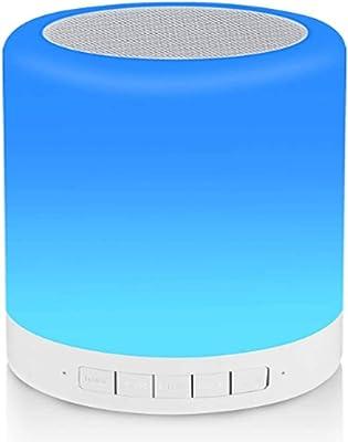 Nachttischlampe Bluetooth Lautsprecher Buntes LED Touch MP3-Player Sleep DHL
