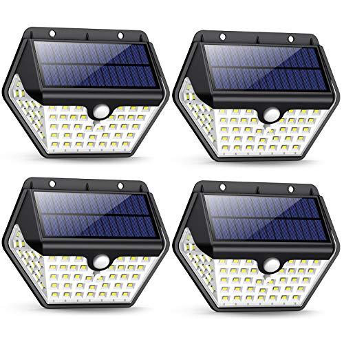 Luz Solar Exterior, [2019 Más Nuevo Modelo 60 LED - 800 Lumens]...