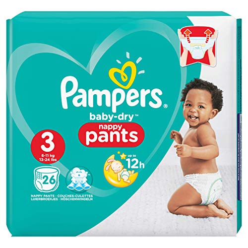 Pampers Baby-Dry Pants Taille 3, 6-11 kg, 26 Couches-Culottes