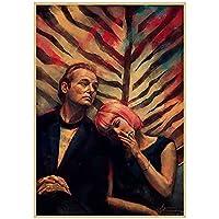 ZNNHEROロストイントランスレーション映画のポスタープリントキャンバスの絵画リビングルームの装飾のための壁の芸術-60X80Cmx1フレームなし